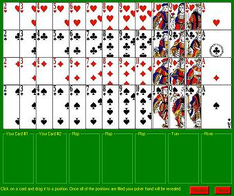 Poker Hand Screen Shot